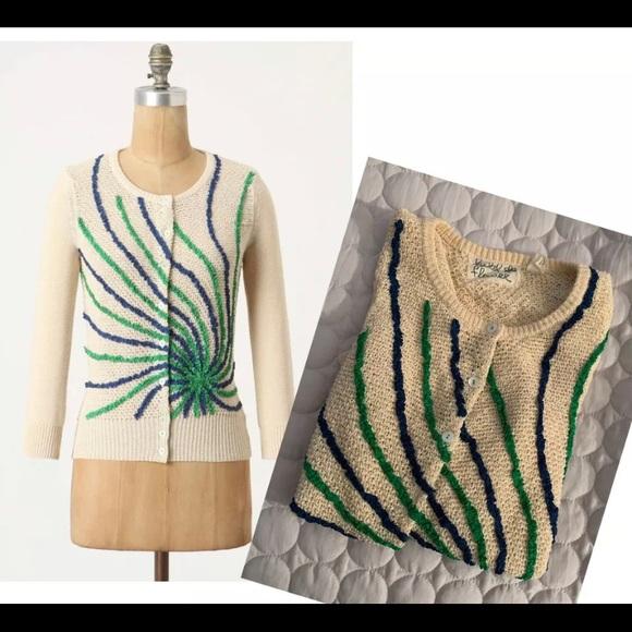 Anthropologie Sweaters Wendi Reed Ribboned Rocket Cardi Sm Poshmark